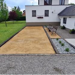 Terrain de pétanque en sable 0-4 jaune